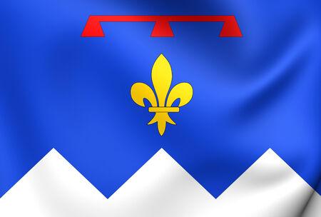 blason: Flag of Alpes-de-Haute-Provence, France. Close Up.