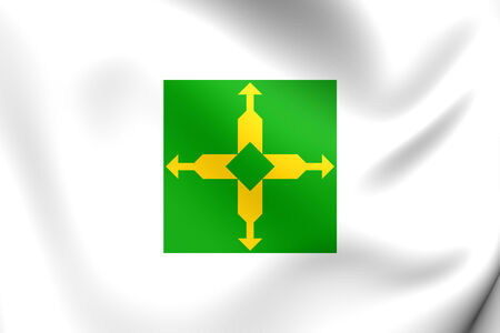 federal district: Flag of Federal District, Brazil. Close Up.
