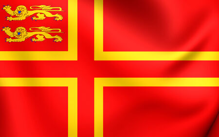 normandy: Flag of Normandy. Close Up.