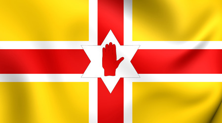 proposed: Proposed Flag of Northern Ireland. Close Up.