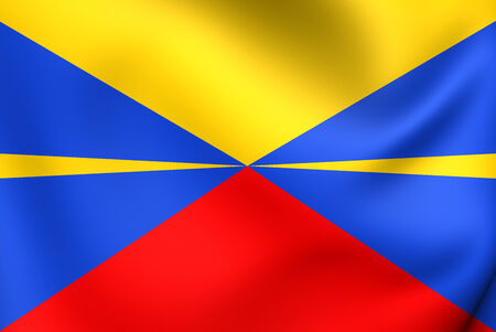 dom: Flag of Reunion (Proposed). Close Up.
