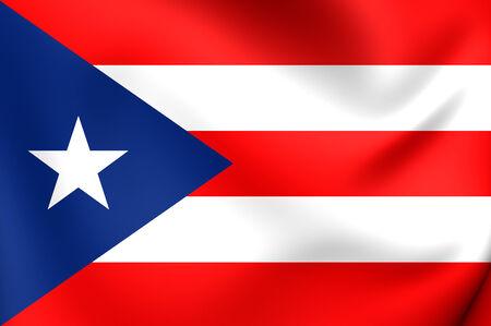 bandera de puerto rico: Bandera de Puerto Rico. De Cerca. Foto de archivo