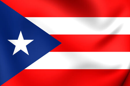 puertorico: Flag of Puerto Rico. Close Up.