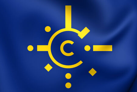 central european: Flag of Central European Free Trade Agreement. Close Up.