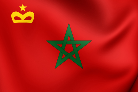 ensign: Civil Ensign of Morocco. Close Up.