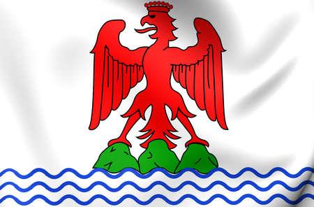 nice france: Flag of Nice, France. Close Up.