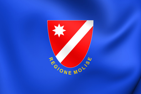 molise: Flag of Molise, Italy. Close Up.