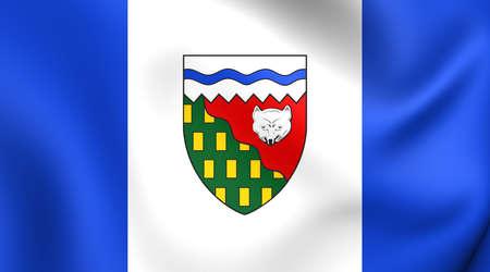territories: Flag of Northwest Territories, Canada. Close Up. Stock Photo
