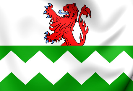 municipality: Flag of Westland, Netherlands. Close Up.