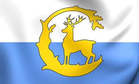 berkshire: Flag of Berkshire County, England. Close Up.