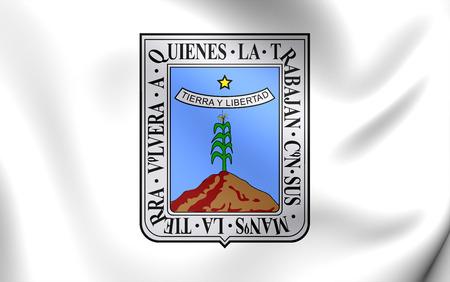 morelos: Flag of Morelos, Mexico. Close Up.