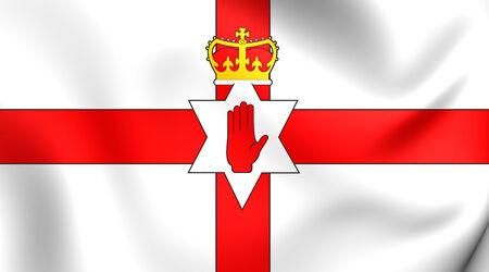 northern ireland: Flag of Northern Ireland. Close Up.
