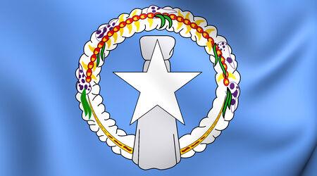 northern: Flag of Northern Mariana Islands. Close Up.