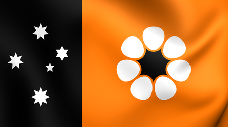 territories: Flag of Northern Territory, Australia. Close Up. Stock Photo