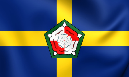 wales: Flag of Pembrokeshire, Wales. Close Up.
