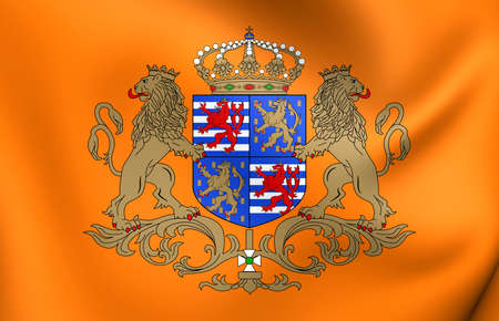 duke: Grand Duke of Luxembourg Flag. Close Up.