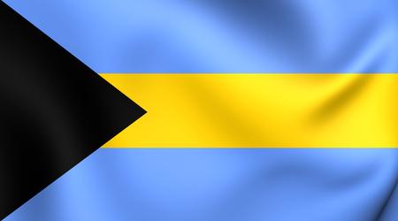 bahamas: Flag of Bahamas. Close Up.