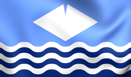 unitary: Isle of Wight Flag, England. Close Up.