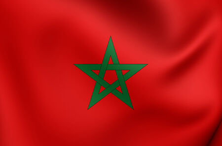 morocco: Flag of Morocco. Close Up.