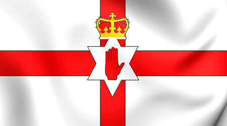 Flag of Northern Ireland. Close Up.