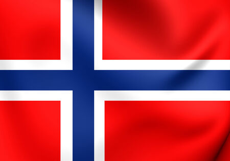 Flag of Norway. Close Up. photo