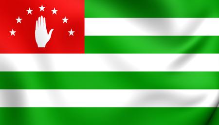 abkhazia: Flag of Abkhazia. Close Up. Stock Photo