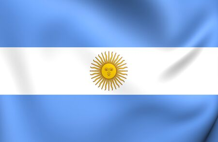 argentina flag: Flag of Argentina. Close Up.