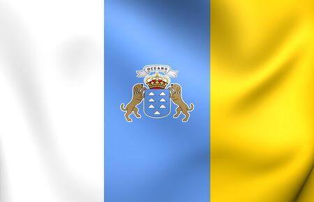 canary: Flag of Canary Islands. Close Up.