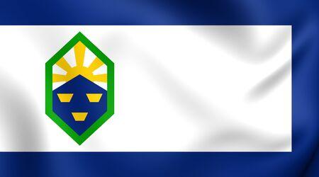 colorado springs: Flag of Colorado Springs, USA. Close Up.