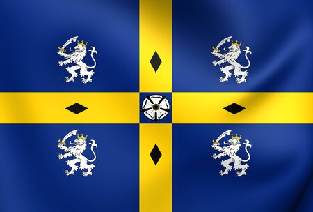 council: Flag of Durham County Council. Close Up.