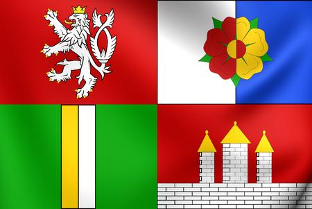 Flag of South Bohemian Region, Czech Republic. photo