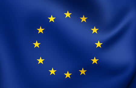 Flag of European Union. Close Up. photo