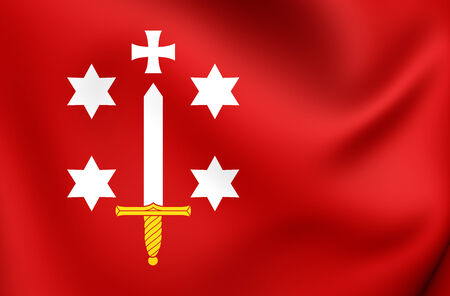 haarlem: Flag of Haarlem, Netherlands. Close Up. Stock Photo