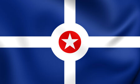 indianapolis: Flag of Indianapolis, USA. Close Up.