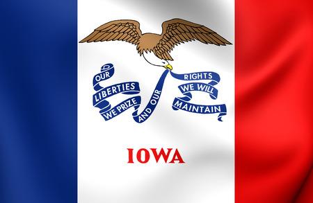iowa: Flag of Iowa, USA. Close Up.