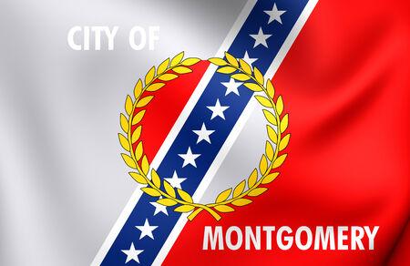 Flag of Montgomery, USA. Close Up. photo