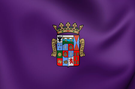 palencia province: Flag of Palencia Province, Spain. Close Up. Stock Photo