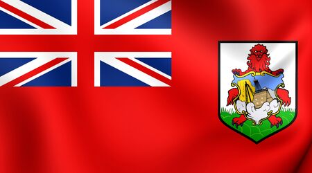 isles: Flag of Bermuda. Close Up.