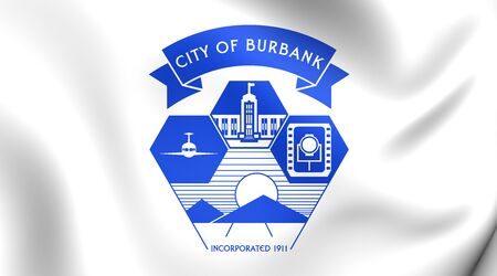 burbank: Burbank Coat of Arms, USA. Close Up. Stock Photo