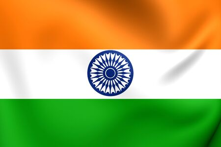 national flag: Flag of India. Close Up.