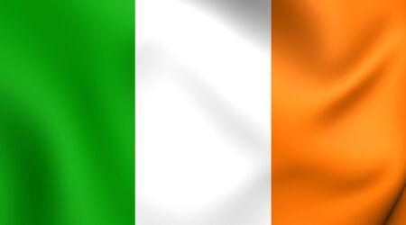 republic of ireland: Flag of Ireland. Close Up.