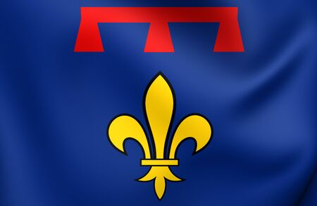 provence: Flag of Provence, France. Close Up.
