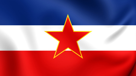 yugoslavia federal republic: Flag of Yugoslavia. Close Up.