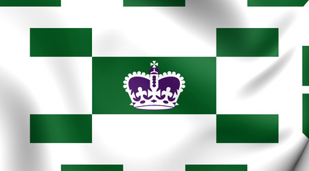 edward: Flag of Charlottetown, Canada. Close Up.