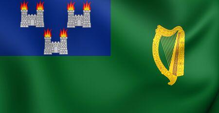 dublin: Flag of Dublin, Ireland. Close Up.