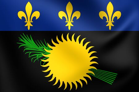 guadeloupe: Flag of Guadeloupe. Close Up.