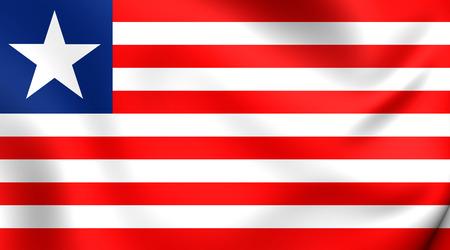 liberia: Flag of Liberia. Close Up.