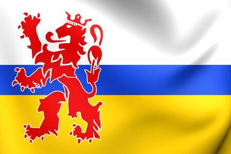 オランダ、リンブルフ州の旗。クローズ アップ。 写真素材