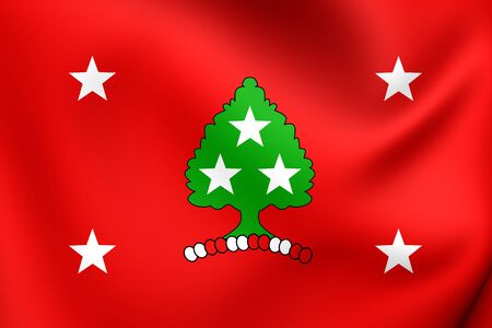 governor: Standard of the Governor of Tennesse, USA. Close Up. Stock Photo
