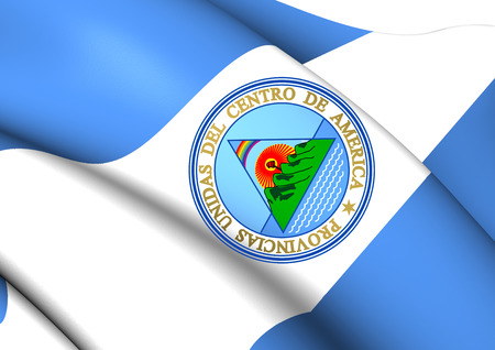 central america: Flag of United Provinces of Central America. Close Up.